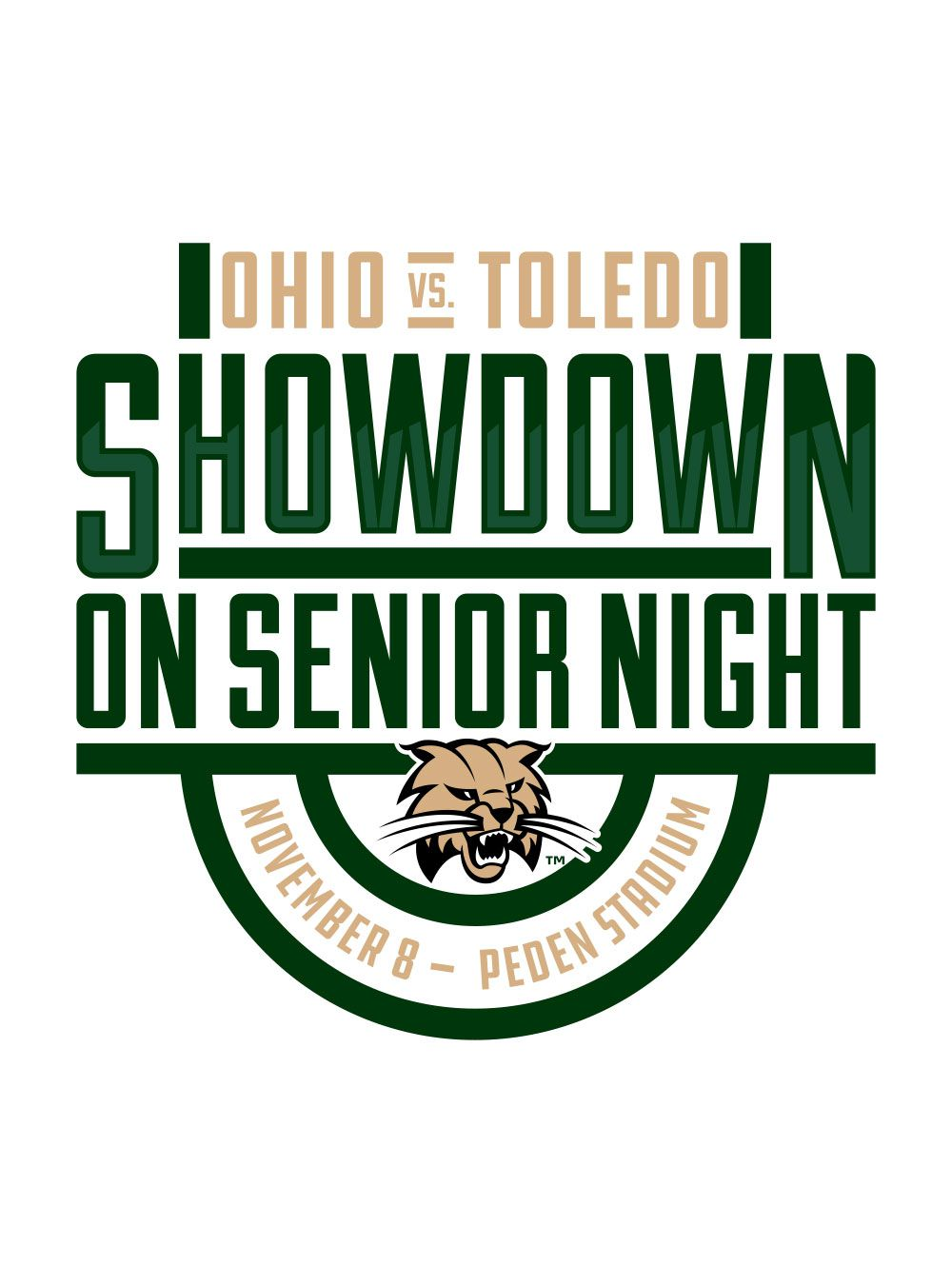 Showdown on Senior Night Logo<br><span>Ohio University</span>