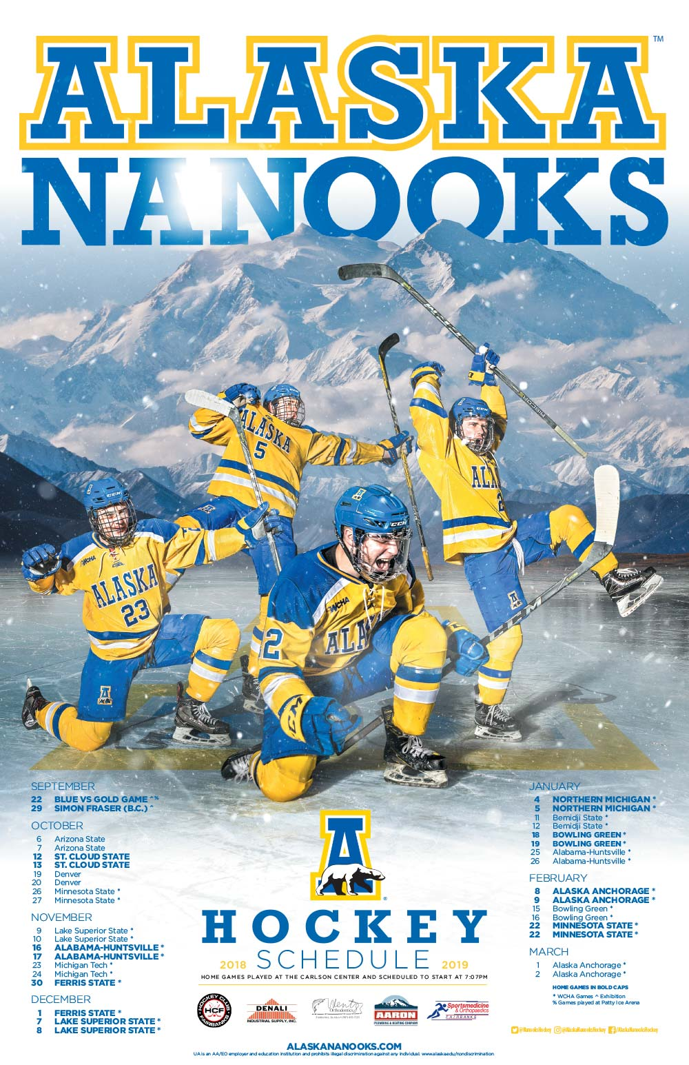 2018 Hockey Poster<br><span>University of Alaska Fairbanks</span>