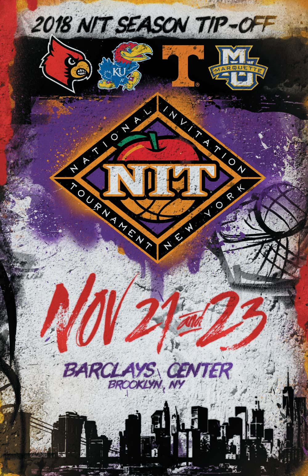 2018 Tip-Off Program Cover<br><span>National Invitational Tournament</span>