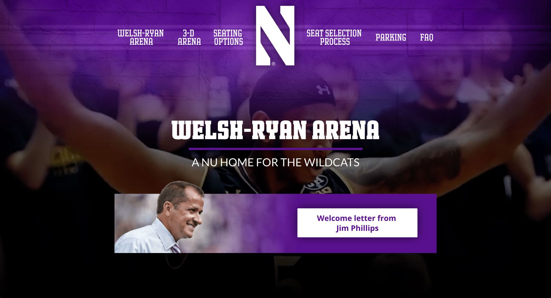 Join the Cats Welsh-Ryan Arena Website  | <a href='http://jointhecats.com/' target='_blank'>Visit Site <i class='nc-icon-glyph arrows-1_share-91'></i></a><br><span>Northwestern University</span>
