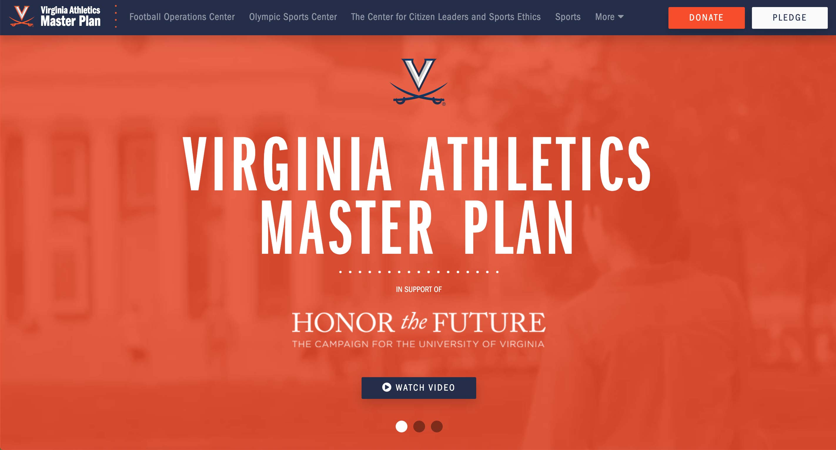 Virginia Sports Master Plan Website | <a href='https://virginiasportsmp.com/' target='_blank'>Visit Site <i class='nc-icon-glyph arrows-1_share-91'></i></a><br><span>University of Virginia</span>